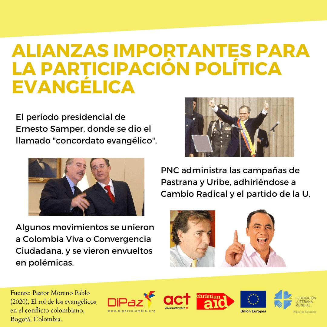 ALIANZAS IMPORTANTES PARA la PARRTICIPACIÓN POLÍTICA EVANGÉLICA 1 Informe el Rol de los Evangélicos en el Conflicto colombiano