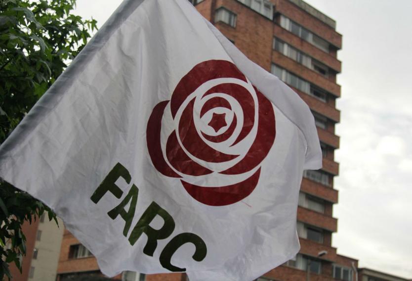 Bandera partido Farc
