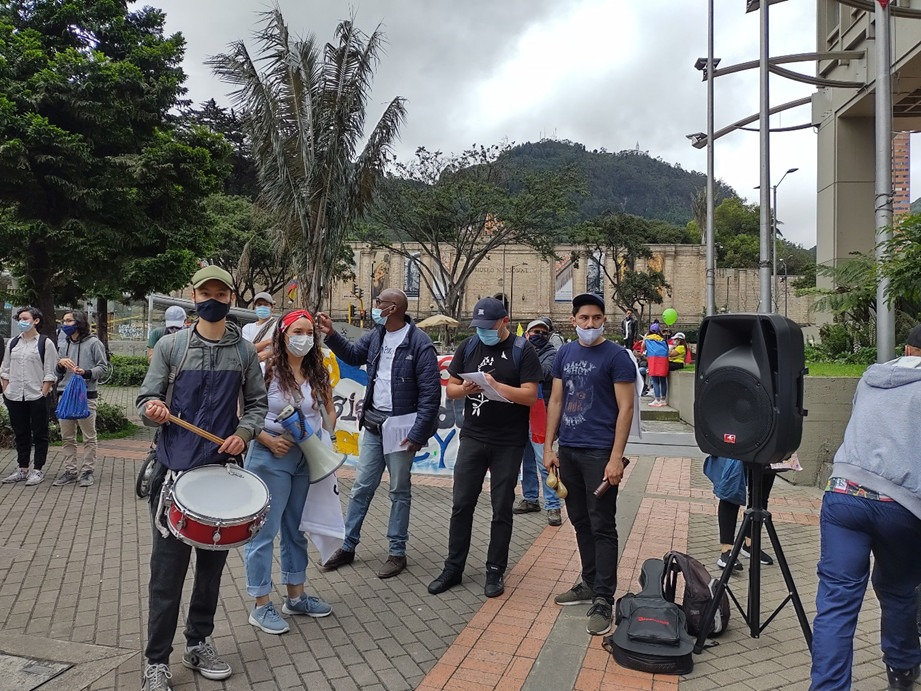 Bogota planto DIPAZ Plantón Ecuménico por la Paz y la Protesta Social