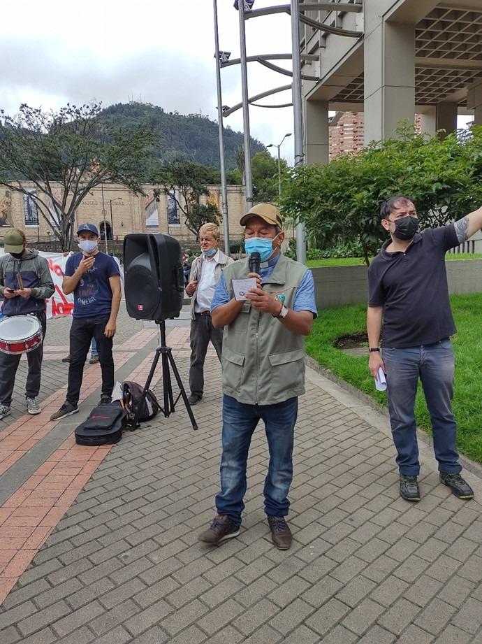 Bogota planton luis Plantón Ecuménico por la Paz y la Protesta Social