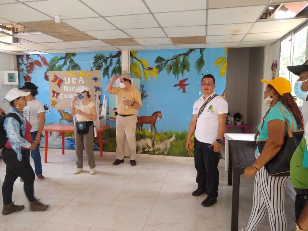Pondores visita internacional.lideres DiPaz, la CUR y una delegación Internacional visitaron Tierra Grata y Ponderes, antiguos ETCRS en Cesar y Guajira