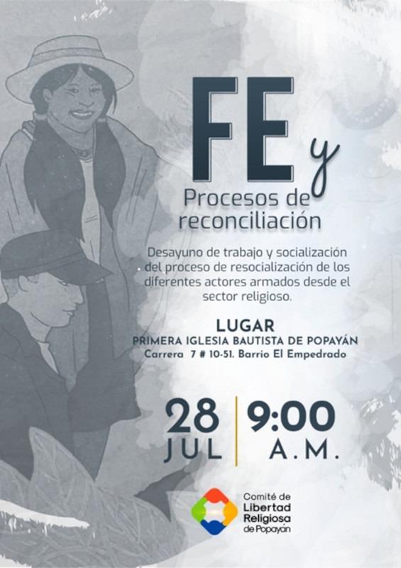Popayan presentacion cartilla afiche Presentación de la Cartilla: 'Fe y procesos de reconciliación'