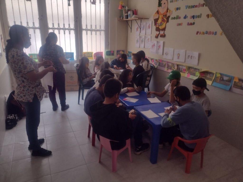 Bogota Reunion escuela pensamiento2 Presentación de un módulo de la Escuela de Acción Noviolenta (ESAN) en la localidad de Bosa. Participaron 45 niñas, niños y jóvenes